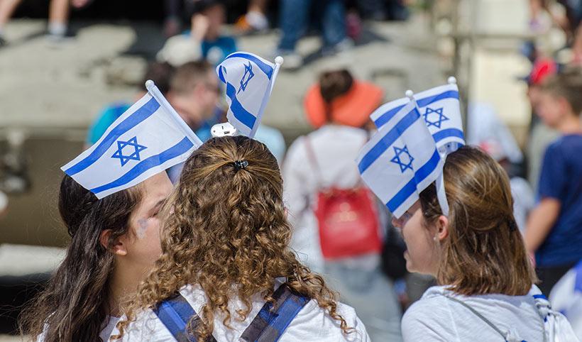 ungdommer-israelske-flagg