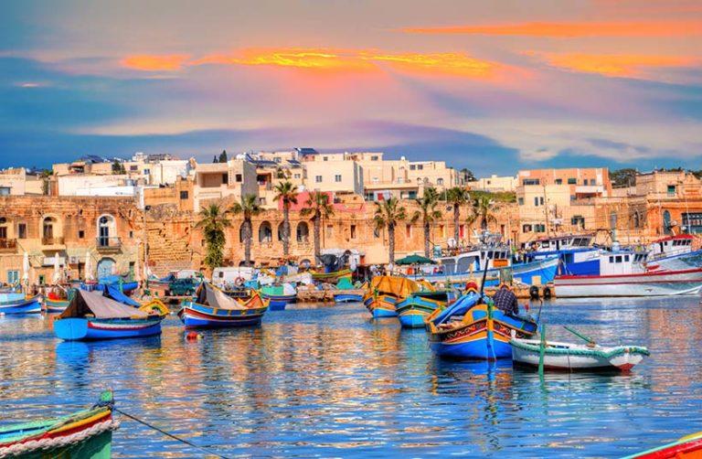 Malta-Solnedgang
